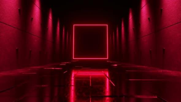 Thumbnail for Endless Flight in a Futuristic Dark Corridor