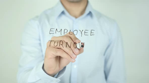 Cover Image for Employee Turnover, Writing On Screen