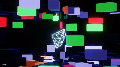 VJ Loops Neon Diamond Rotation