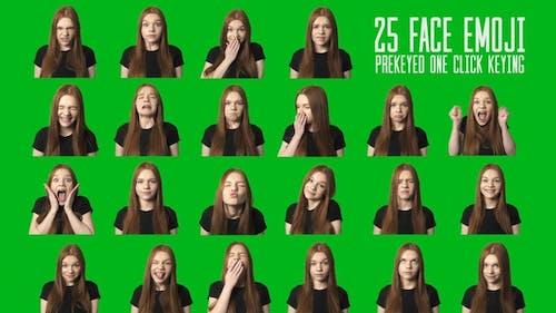 Woman Live Face Emoji Emotions