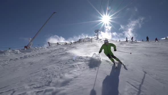 Thumbnail for Skiing Downhill