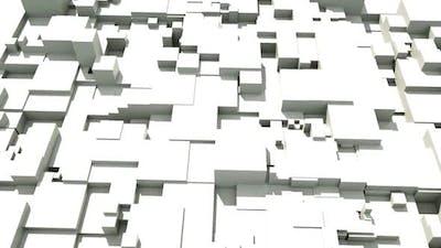 Geometric tech grey 3d abstract motion design.