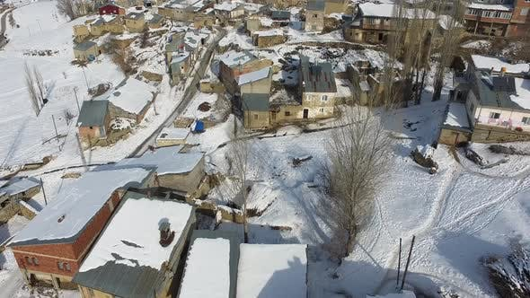 Thumbnail for Snowy Ruin Poor Town Houses in Afghanistan Geography