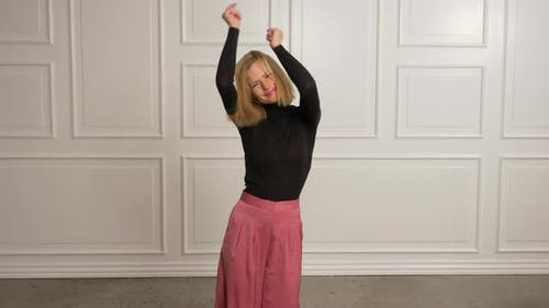 Jolly Model Dancing Around