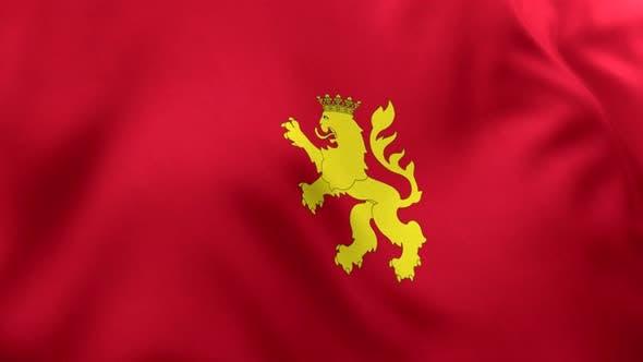 Zaragoza (Saragossa) City Flag (Spain) - 4K