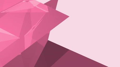 Pink diamond shape against light pink background