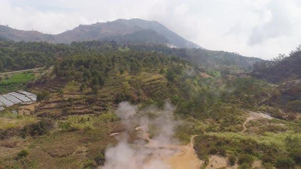 Volcanic Plateau Indonesia Dieng Plateau