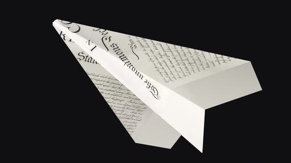 Paper Plane - US Declaration - Side Angle - III - Transparent Loop