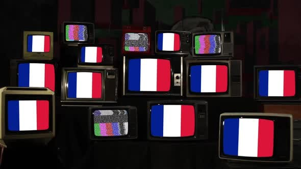 Thumbnail for Flags of France and Televisions from 80s and 90s.