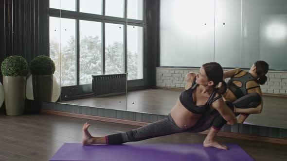 Pregnant Yoga Practitioner