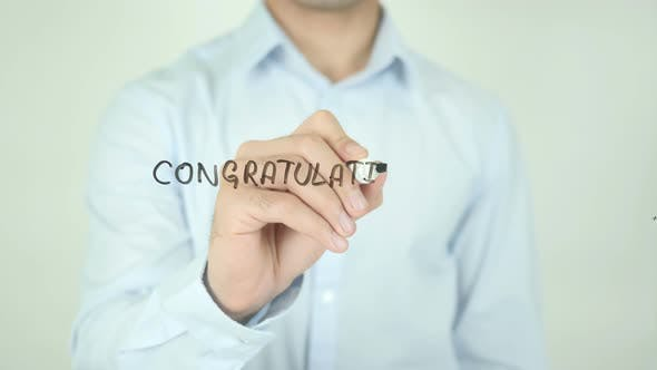 Thumbnail for Congratulation, Writing On Screen