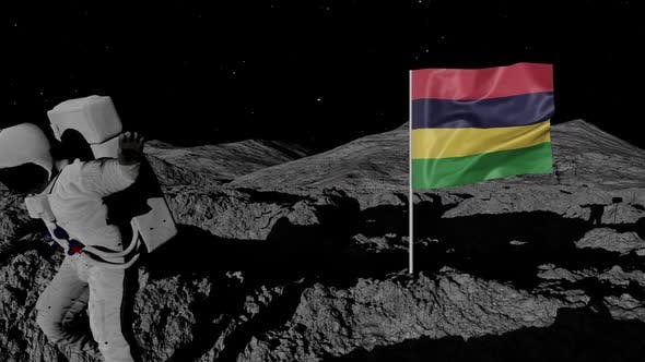 Thumbnail for Astronaut Planting Mauritius Flag on the Moon