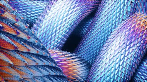 Abstract Purple Dragon Scales Moving Hd
