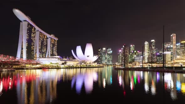 Time Lapse of the amazing Singapore skyline