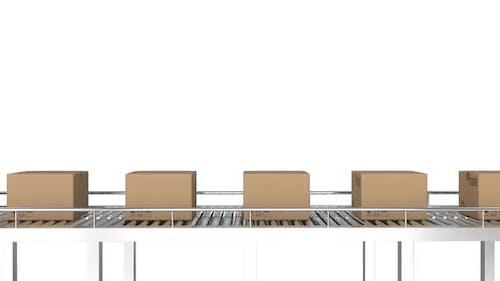 Parcels on conveyor belt