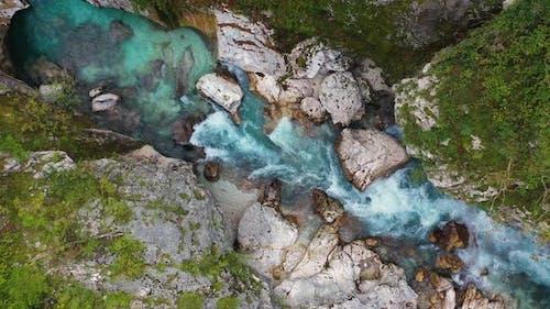 Mountains River Soca in the Triglav National Park