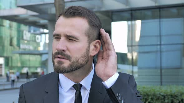 Thumbnail for Secret, Beard Businessman Listening with Attention