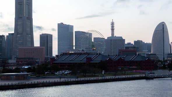 Thumbnail for Yokohama Cityscape Ferris Wheel Japan Timelapse