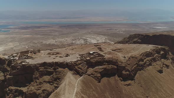 Thumbnail for High angle of Masada and the Dead Sea