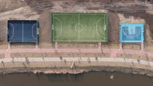 Sports fields and training zone area