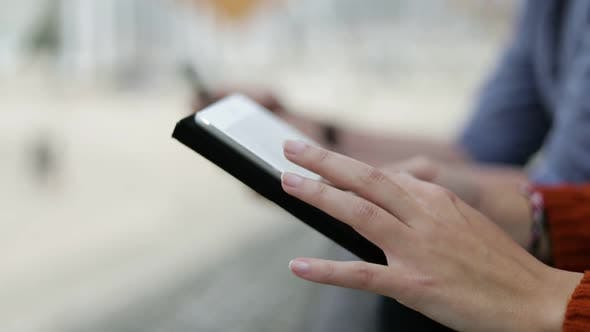 Thumbnail for Cropped Shot of People Using Digital Devices