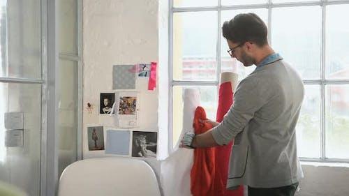 Young male fashion designer
