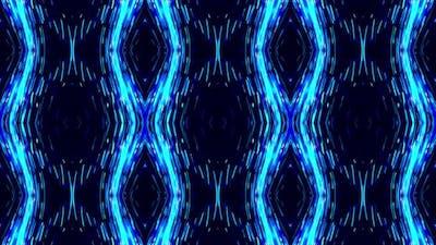 Kaleidoscopic blue and black background