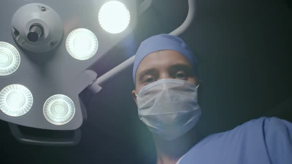 Thumbnail for Doctor Putting Anesthetic Mask