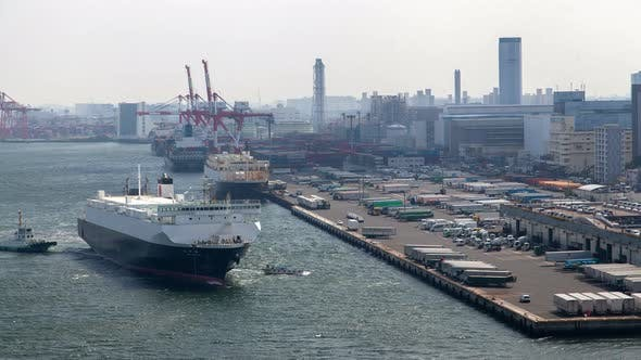 Thumbnail for Seaport Harbour Container Ship Moor Dockland Tokyo
