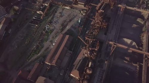 Aerial View of Metallurgical Plant