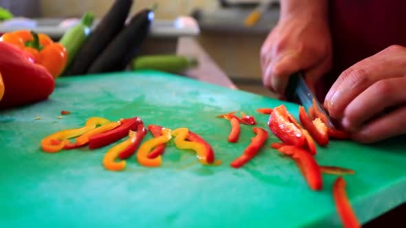 Thumbnail for Chef Cutting Vegetables