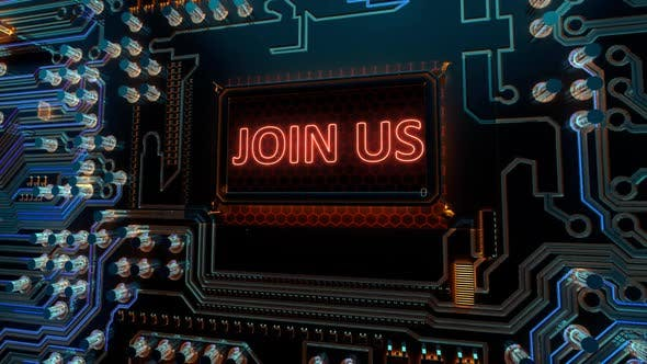 Thumbnail for Registration Membership Communication Subscription and Join Us Words on Printed Digital Circuitboard