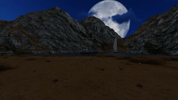 Thumbnail for Mountain landscape at night