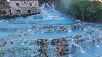 Natural thermal waterfalls of Saturnia