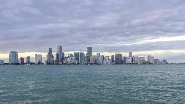 Thumbnail for Miami Downtown Urban Cityscape at Sunset