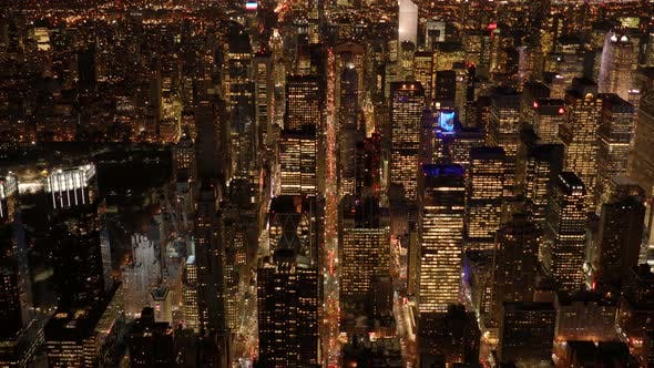 Thumbnail for Glowing Light from Brightly Lite Metropolitan Cityscape