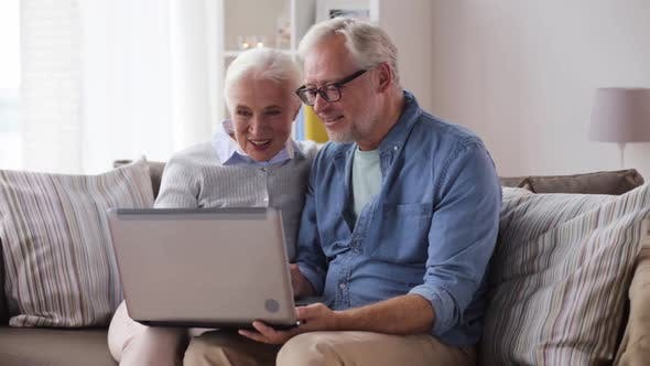 Thumbnail for Senior Couple Having Video Call on Laptop at Home 80