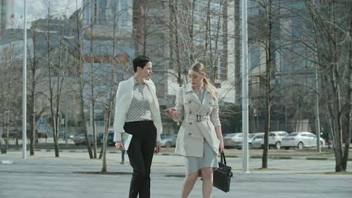 Businesswomen on the Walk