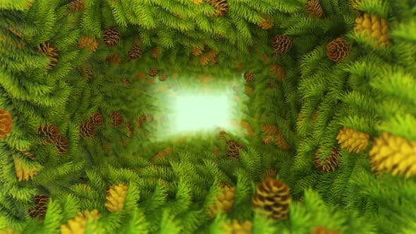 Pine Leaves Tunnel 01 Hd - product preview 0