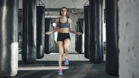Thumbnail for Portrait of a Female Athlete in the Gym