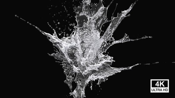 Purified Water Explosion 4K