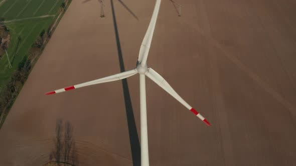 Thumbnail for Close Up Shot of Wind Turbine, Mill Rotating By the Force of the Wind Generating Renewable