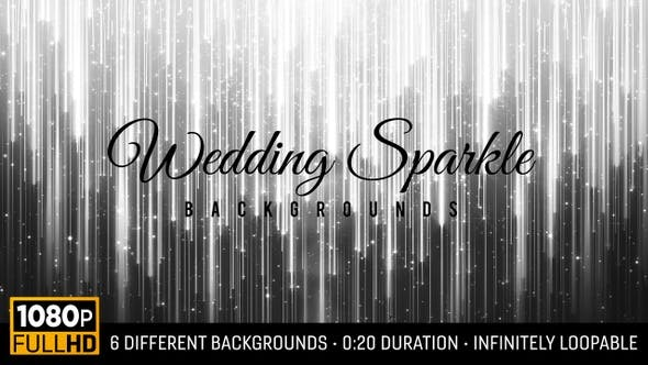 Wedding Sparkle Backgrounds HD (6-pack)