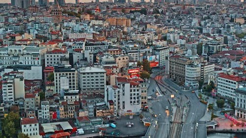 Aerial Cityscape of Istanbul, Turkey