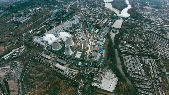 Thumbnail for Aerial of Industrial Area