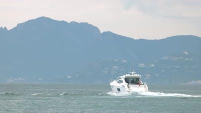 Motor Yacht on Water.