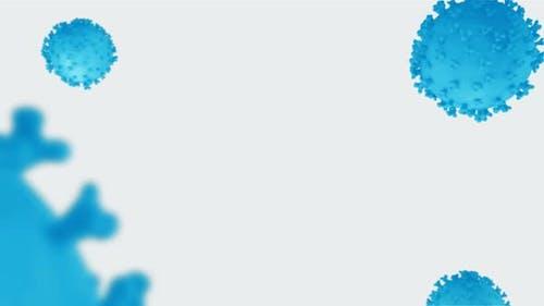 Coronavirus Blue and White Background - Ver4