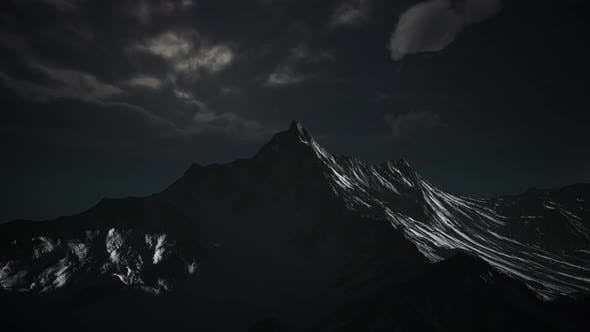 Thumbnail for Mountains in Evening Cloudy Sky