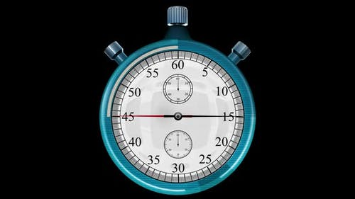 60 Second Countdown Clock   Blue Stop Watch