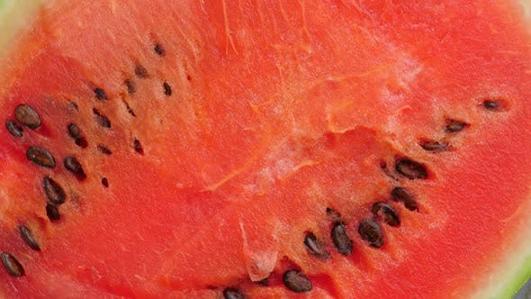 Thumbnail for Ripe Red Halfed Watermelon Rotating